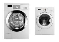 Washing machines isolated on white. Background royalty free stock photography