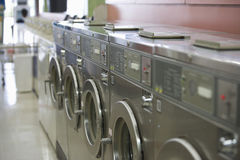 Washing Machines In Launderette Royalty Free Stock Photo
