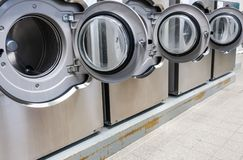 Washing machines in the laundry room royalty free stock photo
