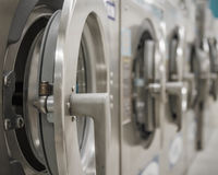 Washing machines at laundry Royalty Free Stock Photos