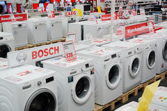 Washing Machines store Stock Image