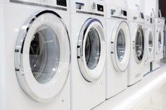 Washing mashines in appliance store Stock Image