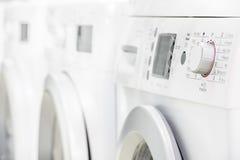 Washing mashines in appliance store Stock Photos