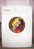 Washing masine. Stock Photo