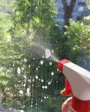 Washing Of Windows Royalty Free Stock Photo
