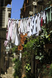 Washing out to dry - shallow DoF. In Dubrovnik, Croatia royalty free stock images