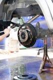 Washing pick-up suspension Stock Image