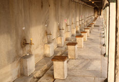 The washing place. The washing place at the Blue Mosque in Istanbul Turkey Royalty Free Stock Photo