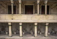 The washing place in the Blue mosque Istanbul Stock Photography