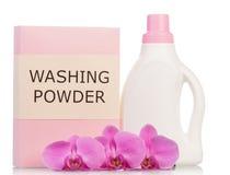 Washing powder and bottle Stock Images