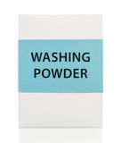 Washing powder box Royalty Free Stock Image