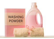 Washing powder and Cleaning items Stock Photos