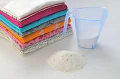 Washing powder for colored fabrics Stock Photography