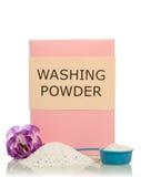 Washing powder with flower Royalty Free Stock Photo