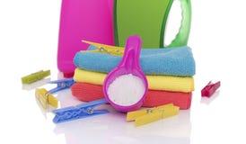 Washing powder and gel for washing. Royalty Free Stock Image