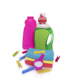 Washing powder and gel for washing. Stock Photography