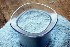 Washing powder or laundry detergent Royalty Free Stock Image