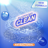 Washing powder packaging  design template. Royalty Free Stock Photo