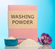 Washing powder with scoop Stock Photography