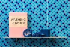 Washing powder on shelf Stock Photo
