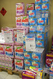 Washing powder in a supermarket Royalty Free Stock Images