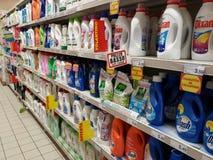 Washing powder in supermarket Royalty Free Stock Photo