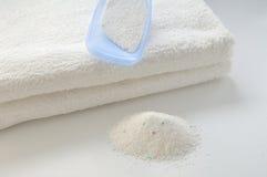 Washing powder for white fabrics Stock Photo