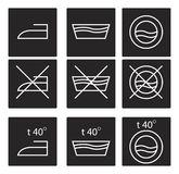 Washing signs icon set Royalty Free Stock Image