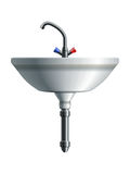 Washing sink front view Royalty Free Stock Images