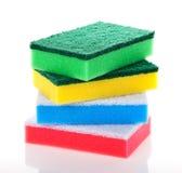 Washing sponge. Set of washing sponge isolated on white background royalty free stock photography
