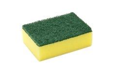 Washing Sponge. Isolated on White Stock Image