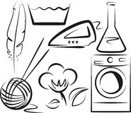 Washing symbols Stock Photo
