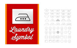 Washing symbols Royalty Free Stock Photography