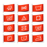 Washing symbols Royalty Free Stock Photos