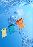 Washing t-shirt Stock Photo