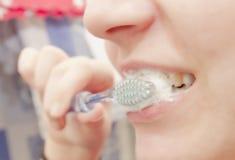 Washing teeth Royalty Free Stock Images