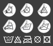 Washing / textile symbols Stock Images