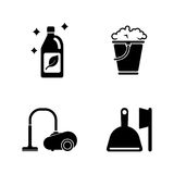 Washing tidying. Simple Related Vector Icons Stock Images