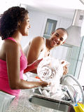 Washing together. Stock Images