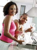 Washing together. Royalty Free Stock Images