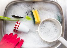 Washing up. Stock Image