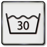 Washing only up to 30 degrees. Laundry wash plate washing only up to 30 degrees royalty free illustration
