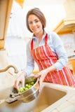 Washing vegetables Royalty Free Stock Photo
