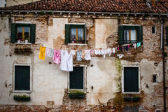 Washing in Venice Royalty Free Stock Photography