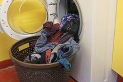 Washing and washing machine. Stock Image