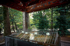 Washing water at Japanese Shrine Royalty Free Stock Photo
