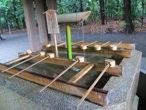 Washing water at Japanese Shrine Royalty Free Stock Images