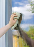 Washing window Royalty Free Stock Images