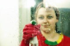 Washing the window Stock Image