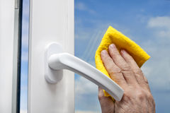 Washing windows Royalty Free Stock Image